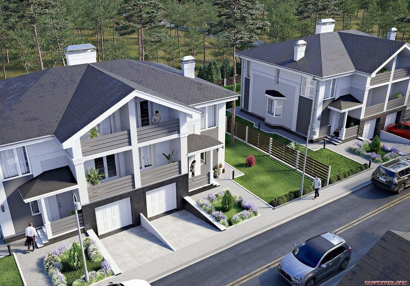 Buy a cottage town Duplexes «NEW Cottage Residence 3»