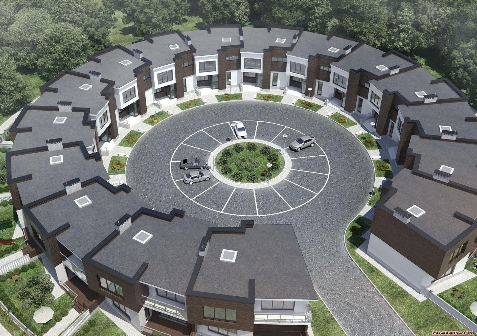 Купить котеджный городок Сметана коттеджный двор
