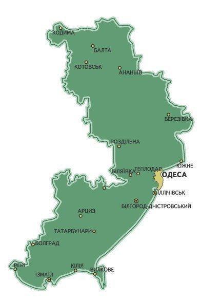 карта одесская район беляева фото береговой ракетный