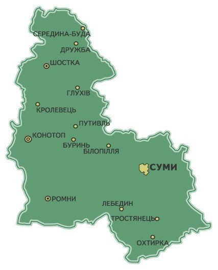 Sumy Region: on human settlements, geography, population, climate, economy, flag