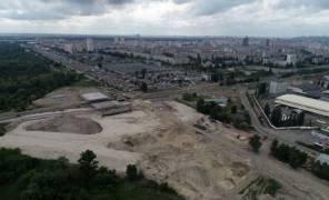 Фото: строительство  Большой окружной дороги в Киеве
