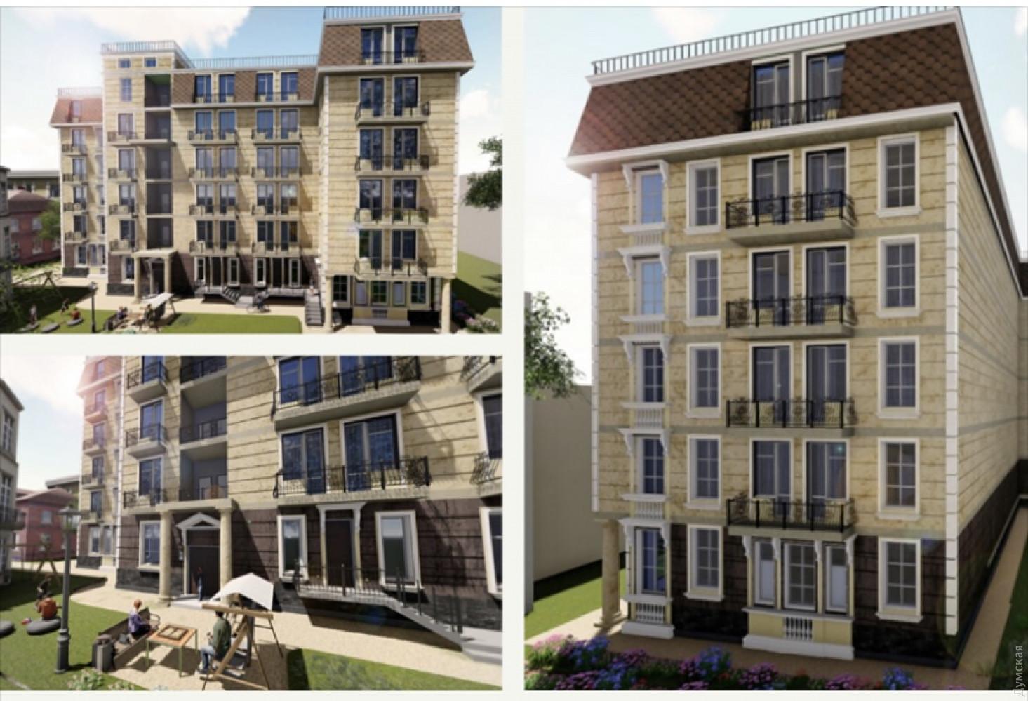 Картинка: Будівництво п'ятиповерхового будинку в центрі Одеси
