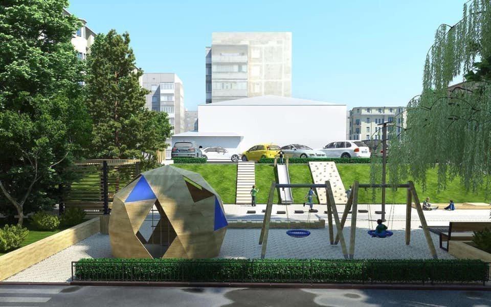 Картинка: Возле Сенного рынка реконструируют сквер