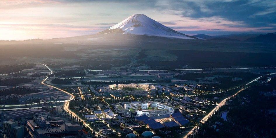 Картинка: Toyota построит город будущего у подножия горы Фудзи