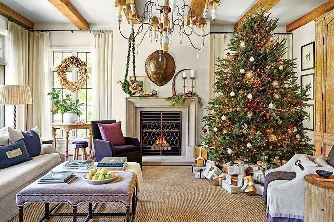 Картинка: В якому стилі прикрасити квартиру до Нового року: що модно в 2020 році