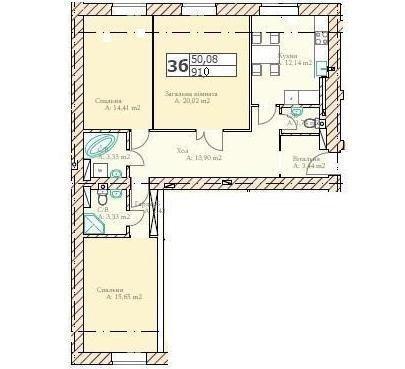 Продам квартиру в городе Буча. Объявление № 3382