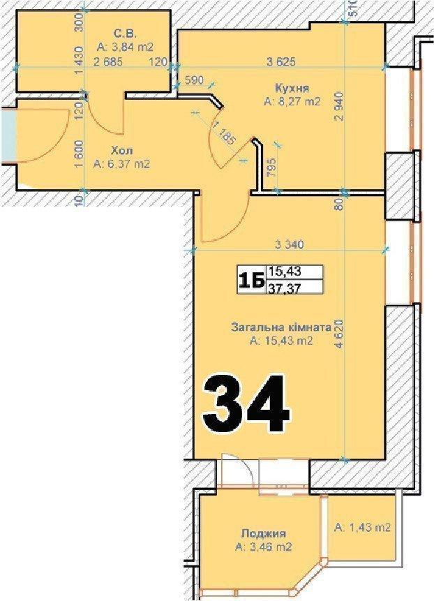 Продам квартиру в городе Ирпень. Объявление № 4826