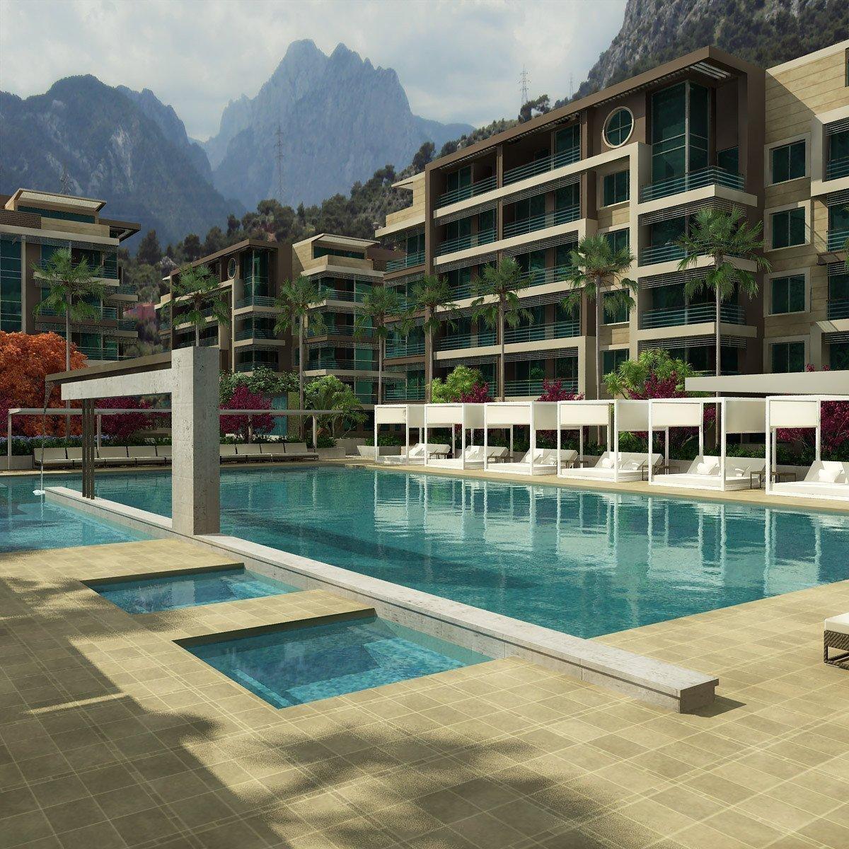 Продам нерухомість за кордоном Апартаменты в 5* Комплексе   на Средеземном море