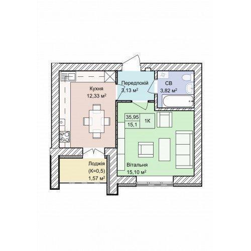 Фото: Продам квартиру в місті Гостомель. Оголошення № 5959