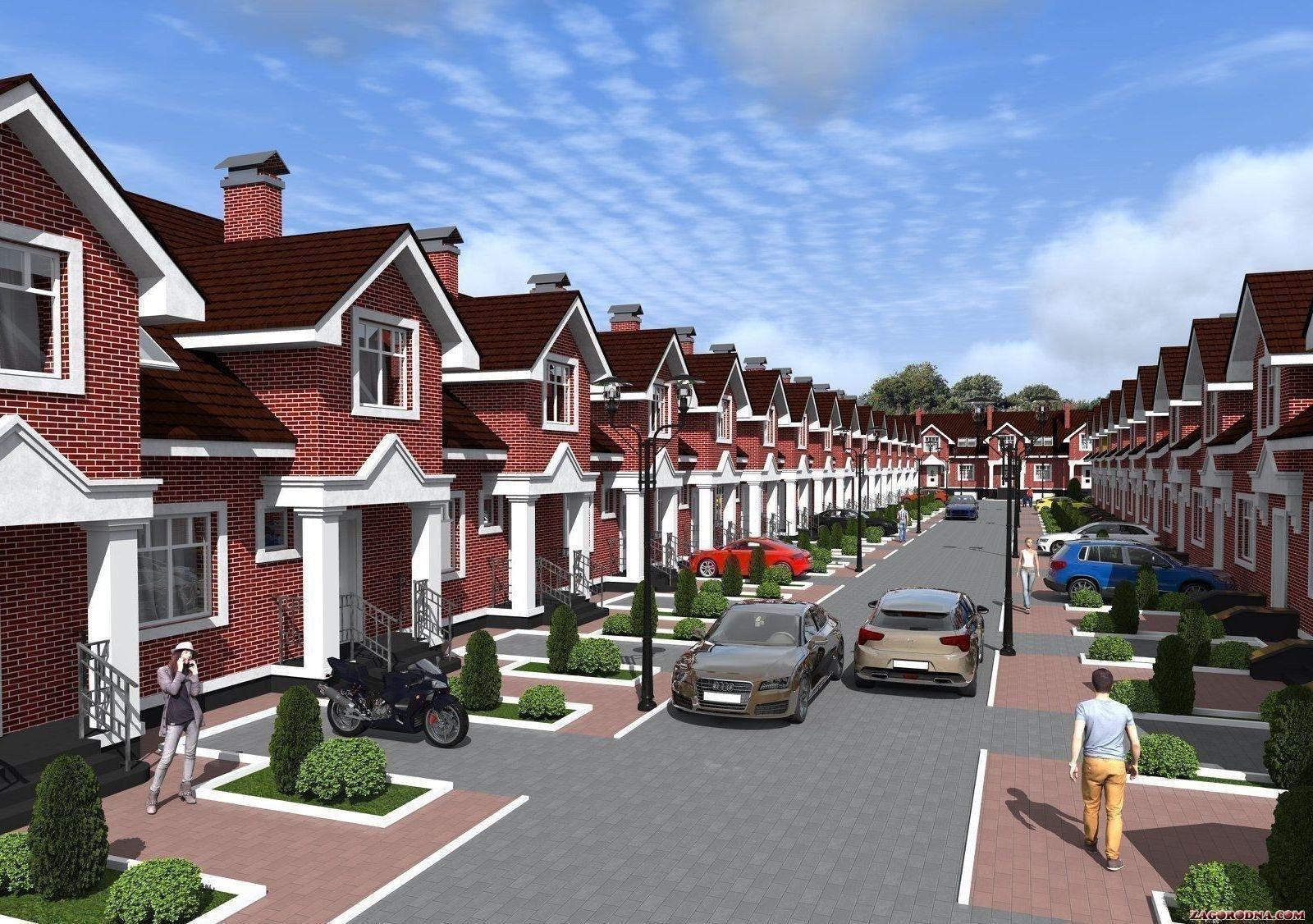 В пригороде Черкасс началось активное строительство коттеджных комплексов