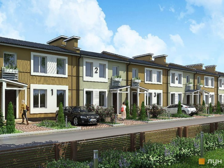 Buy a cottage town «Mosaic» townhouses