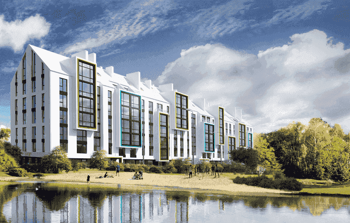 Buy an apartment in a new building «White Chocolate City Lake» residential comlex