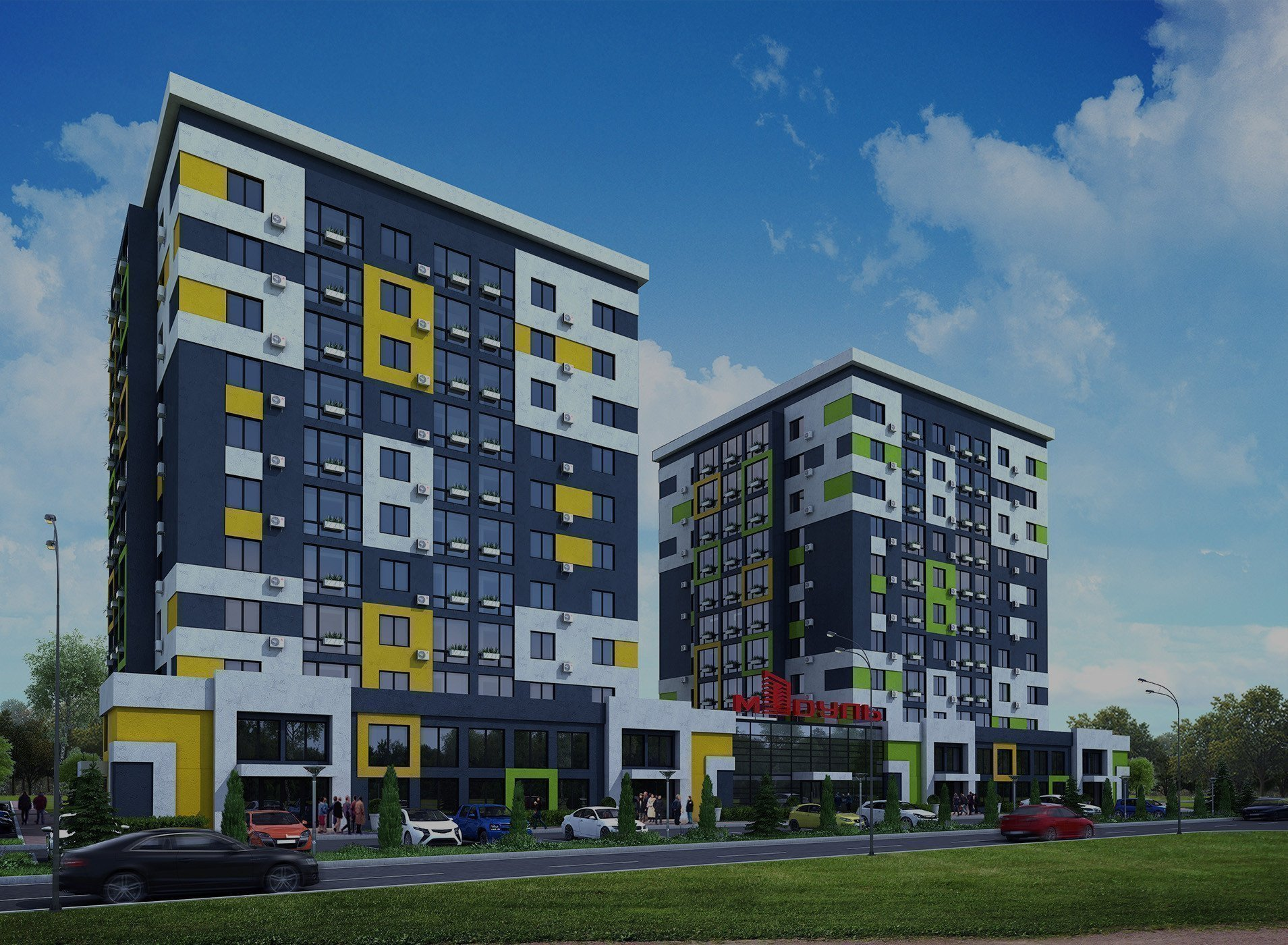 Buy an apartment in a new building Modulus residential comlex