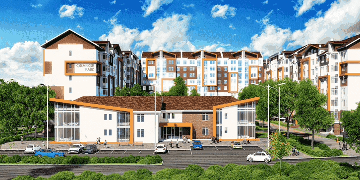 Photo: «Orange Park» residential comlex