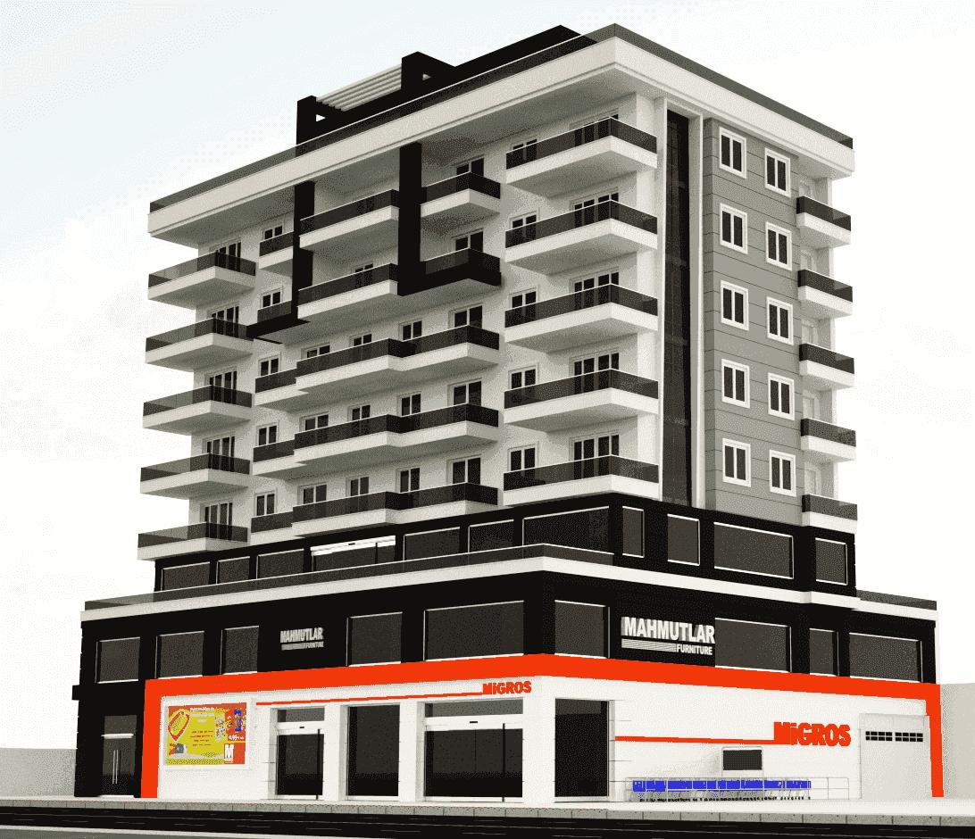 Продам недвижимость за рубежом Квартиры эконом-класса недалеко от моря в Махмутларе