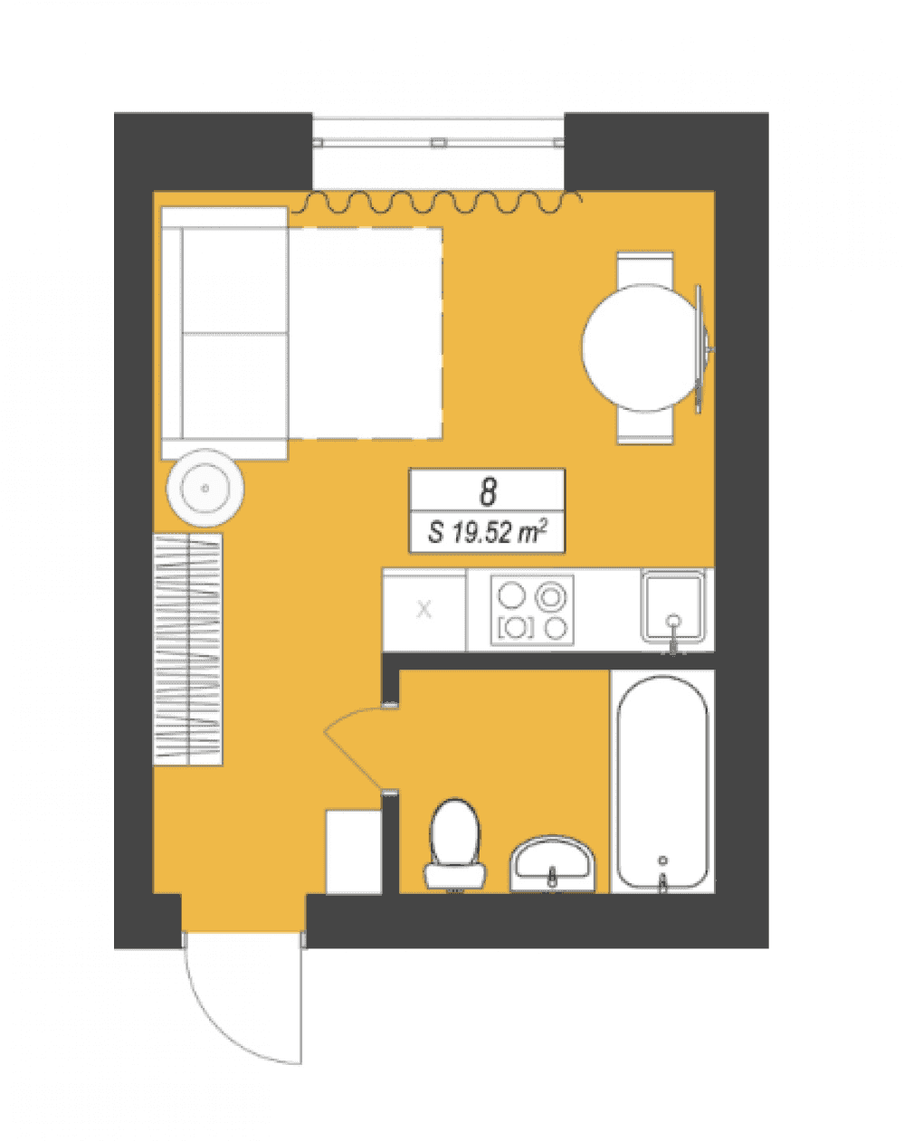 Фото: «Smart Format» ЖК - 1-комнатная